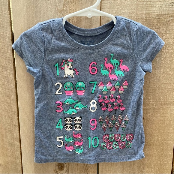 The Children's Place size 2T girls numbers shirt